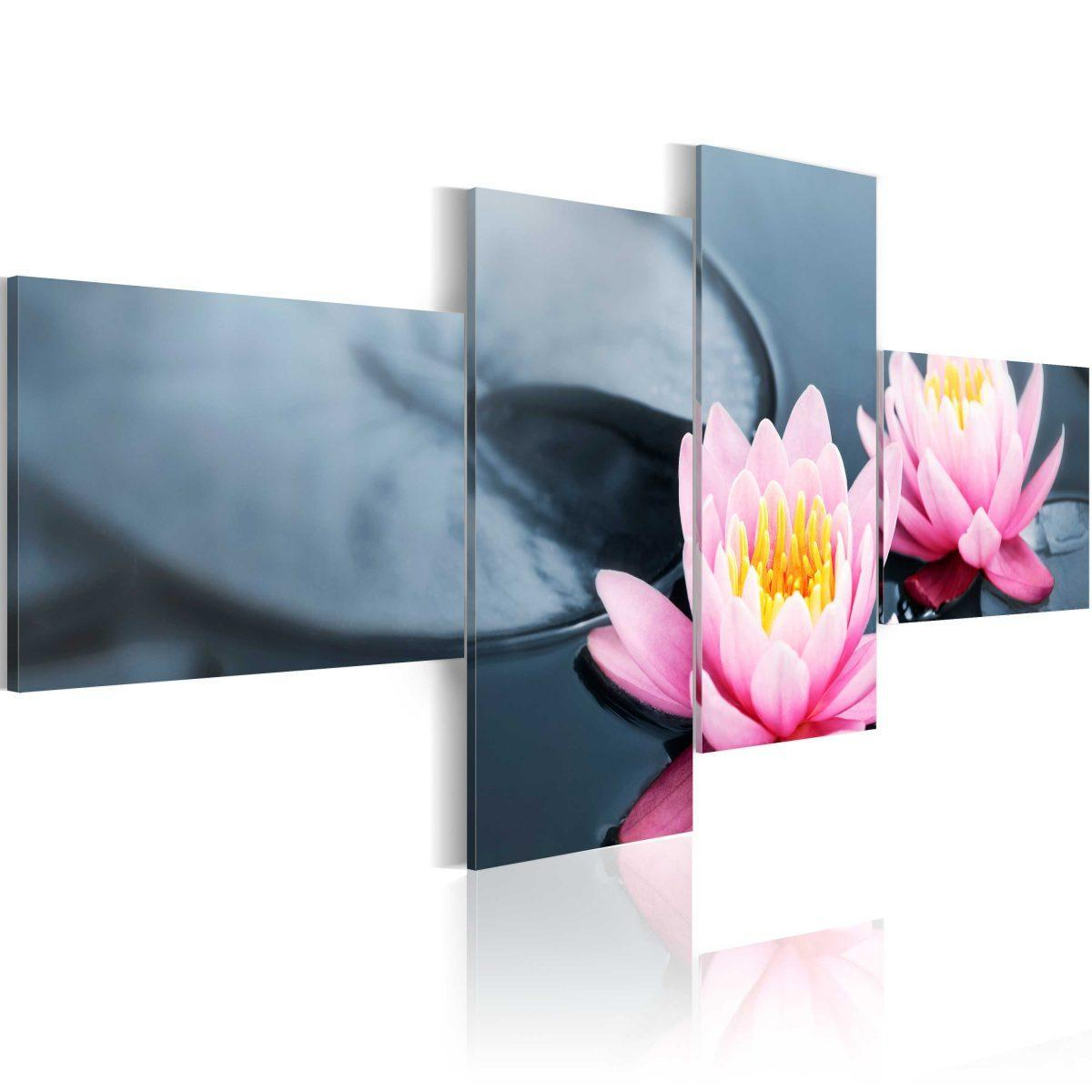 Canvas Tavla - The tranquillity of the lilies - 100x45