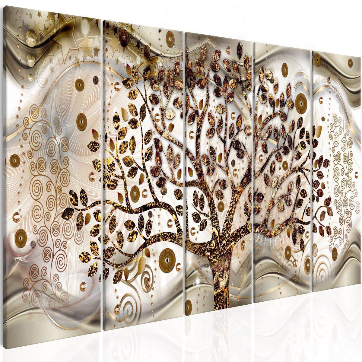 Canvas Tavla - Tree and Waves