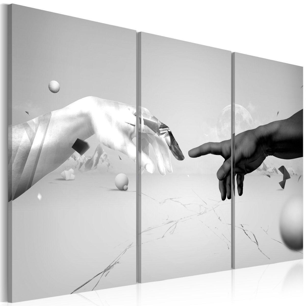 Canvas Tavla - Tryck i svart och vitt - 60x40
