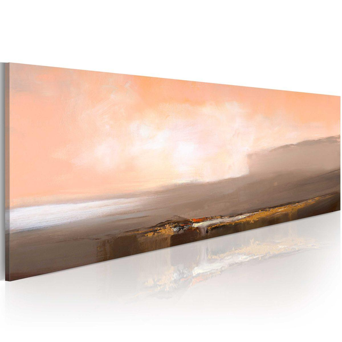 Handmålad tavla - Mellan rosa och grått