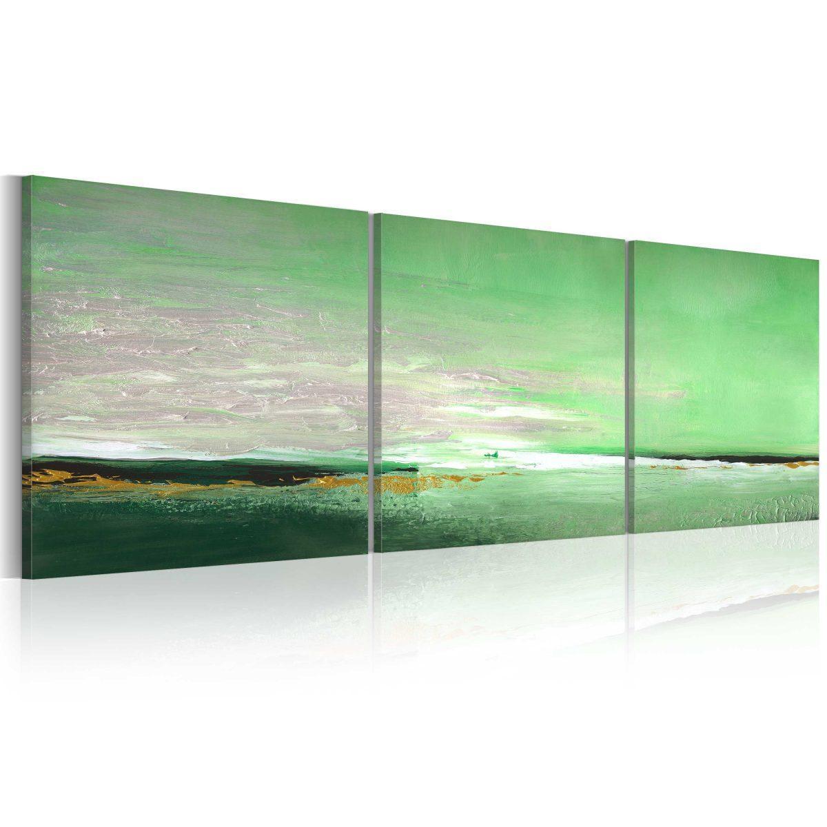Handmålad tavla - Sea-grön kust