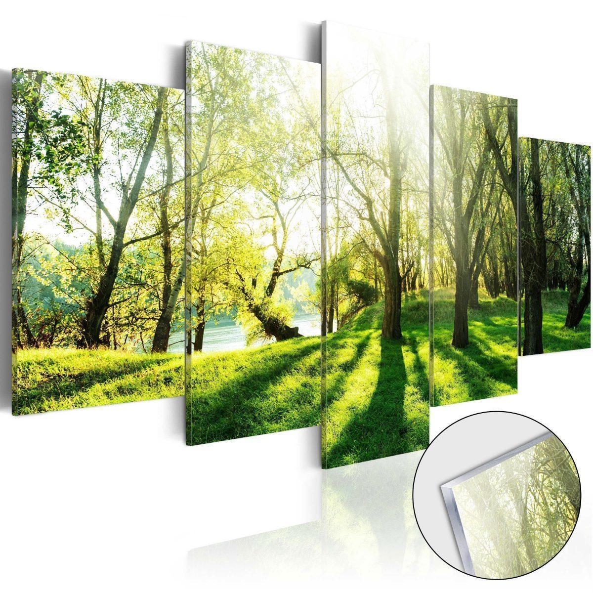 Tavla i akrylglas - Green Glade - 100x50