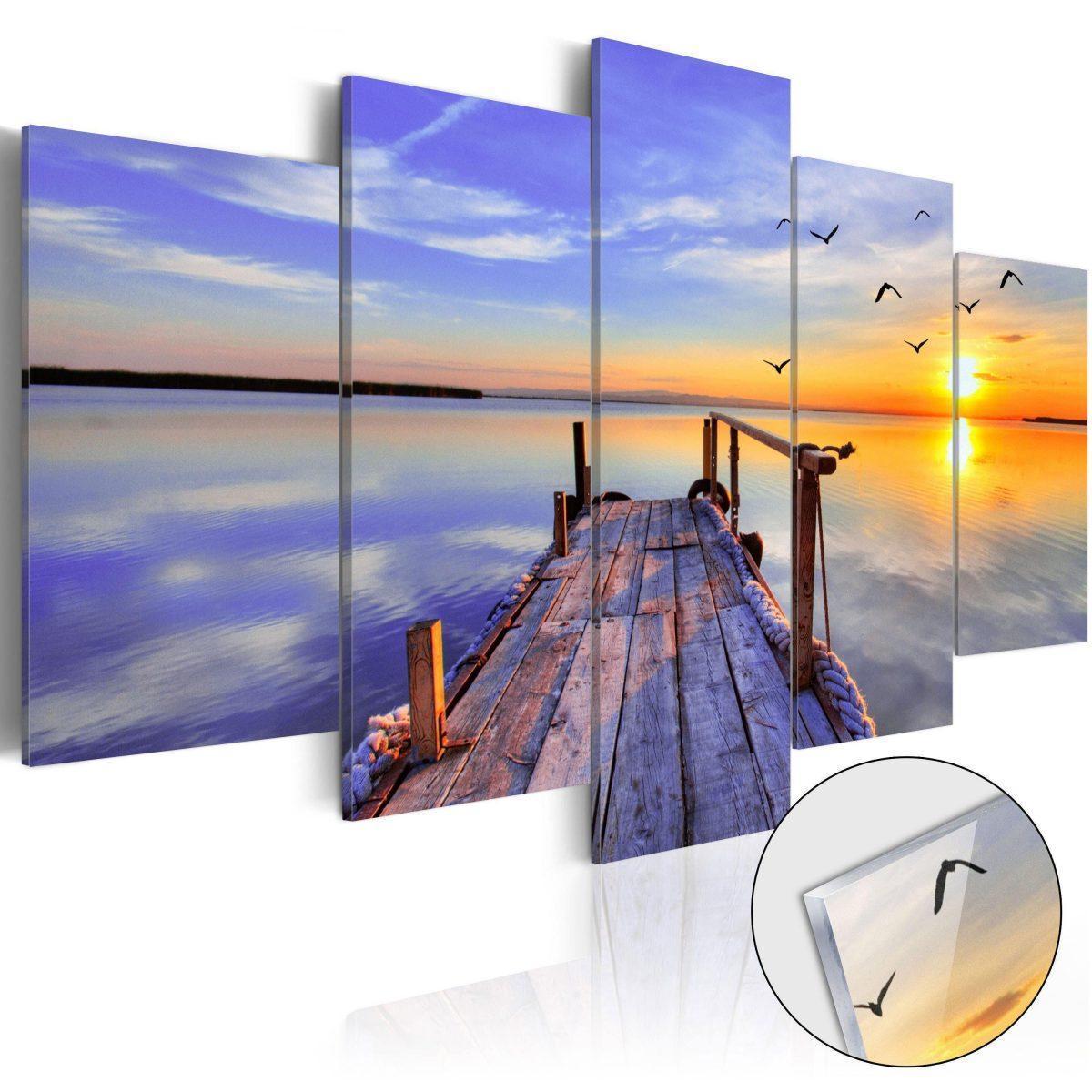 Tavla i akrylglas - Summer Harbor - 100x50
