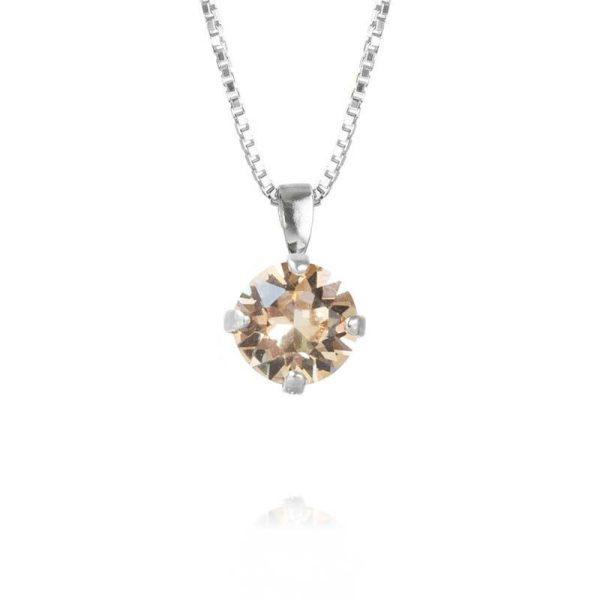 Caroline Svedbom Classic Petite Necklace Rhodium Silk