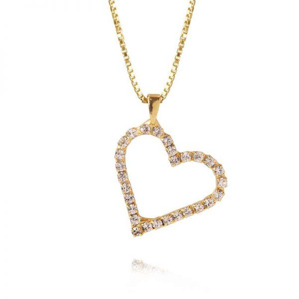 Caroline Svedbom Sweetheart Necklace Gold Crystal (Limited Edition)