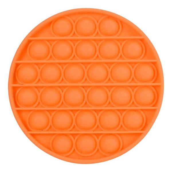 Pop-it Fidget Toy - Rund Orange