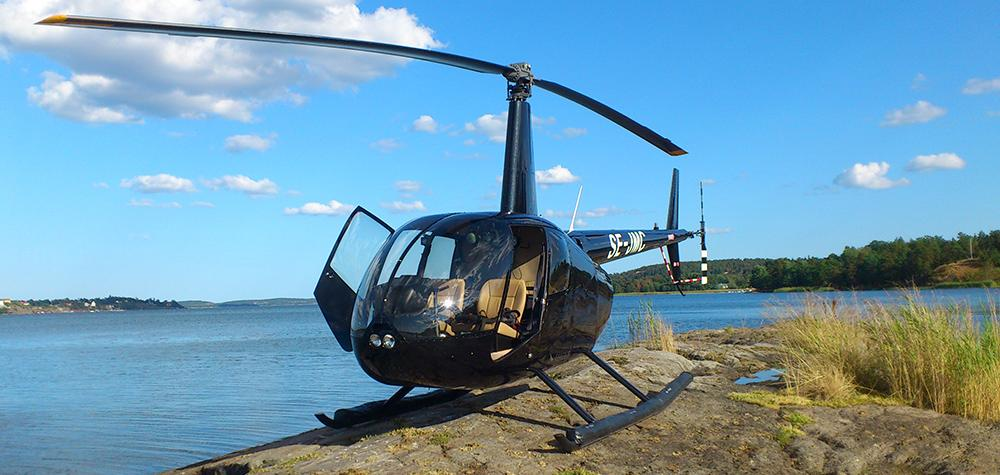 Helikoptertur över Stockholm Singel