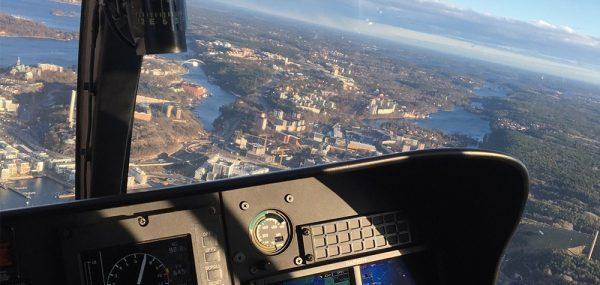 Privat helikoptertur över Stockholm (4 pers) 20 min