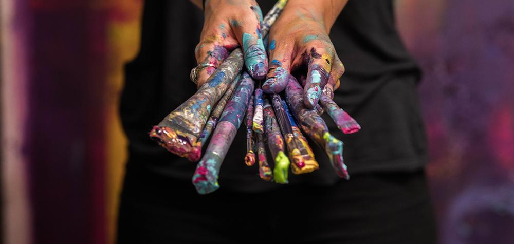 Akrylmålning - Målarkurs i Stockholm