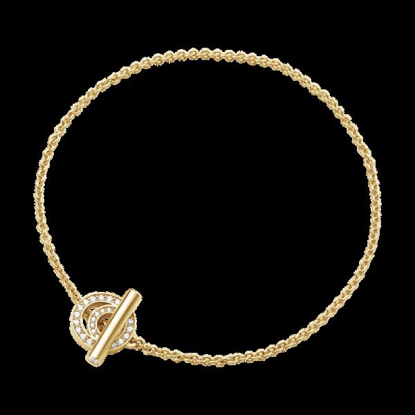Georg Jensen Halo Armband 18K Gult guld med Diamanter