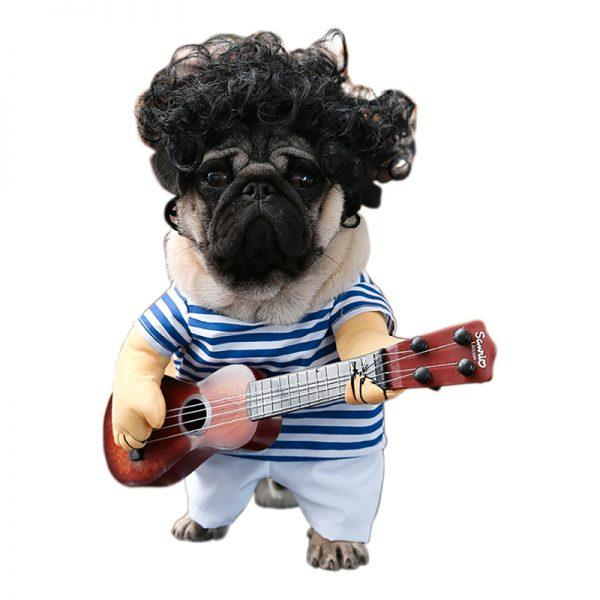 Gitarrist Maskeraddräkt för Katt/Hund - One size