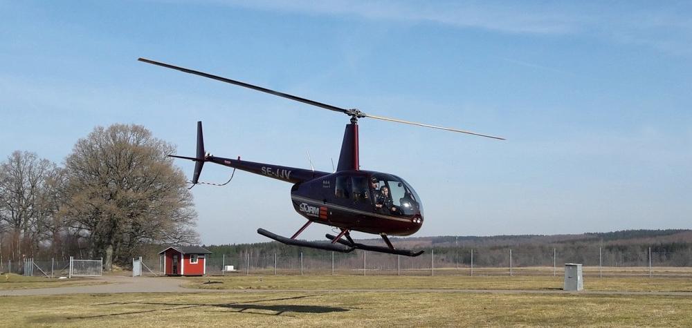 Helikoptertur för två över Malmö