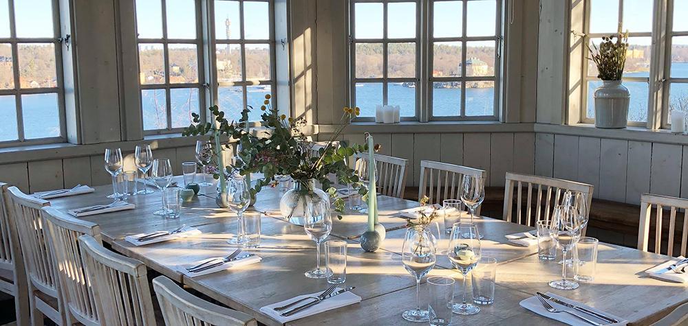 Klassisk brunch för två på Fåfängan med utsikt över Stockholm