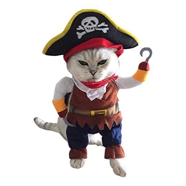 Pirat Maskeraddräkt för Katt/Hund - One size