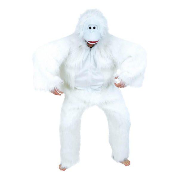 Yeti Vit Maskeraddräkt - One size