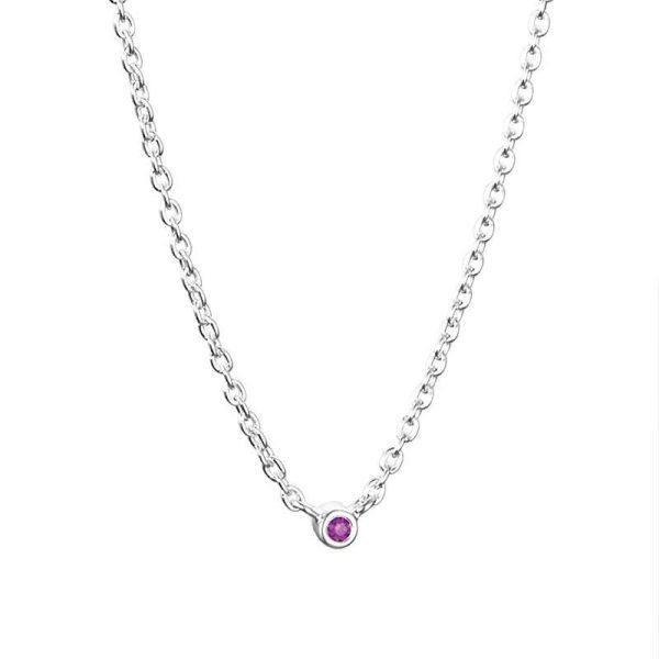 Efva Attling Micro Blink Necklace - Pink Sapphire