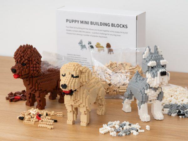 Hundvalp Mini 3D-byggsats - Golden Retriever