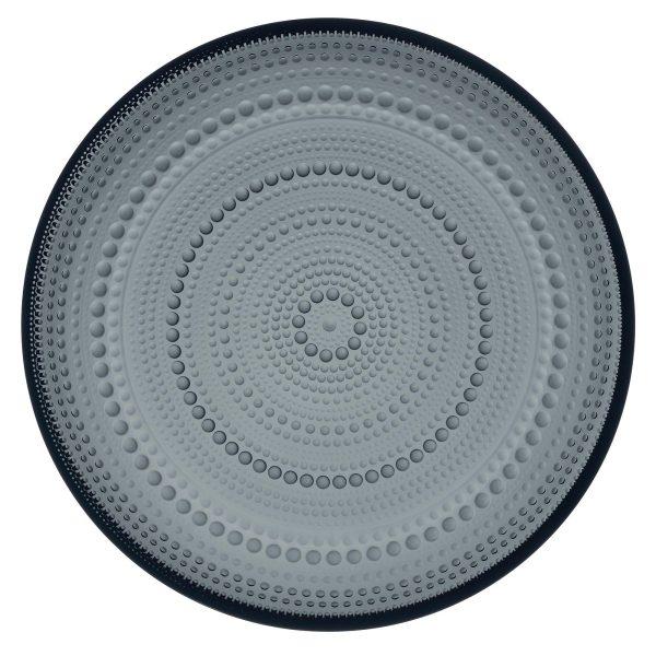 Iittala Kastehelmi tallrik 24,6 cm. mörkgrå