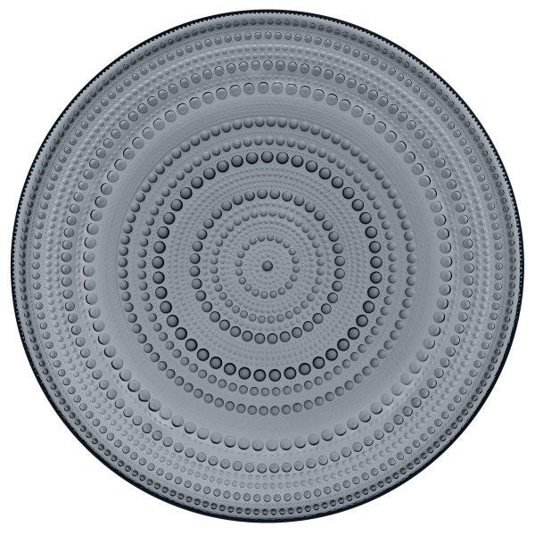 Iittala Kastehelmi tallrik 31,5 cm. mörkgrå