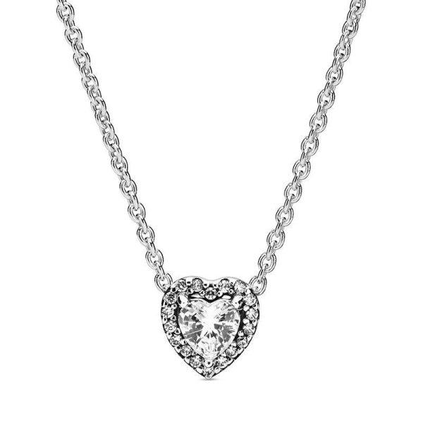 Pandora Upphöjda Hjärtan Halsband