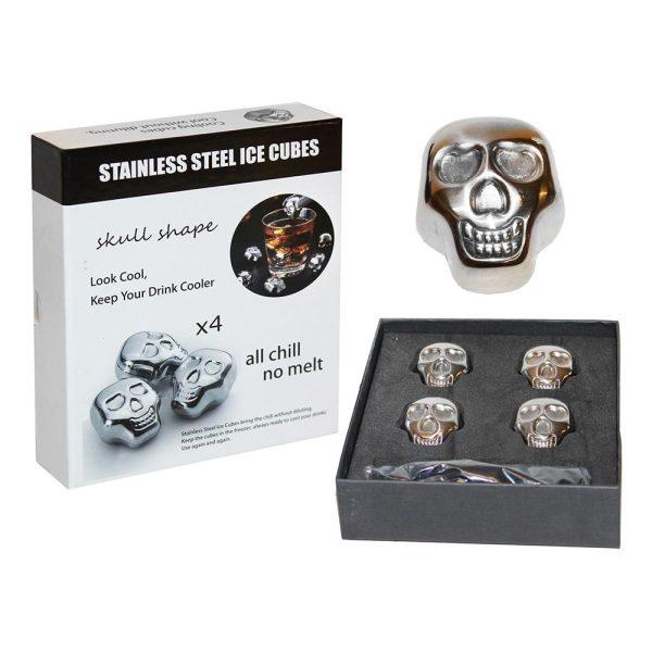 Isbitar I Metall Dödskallar - 4-pack