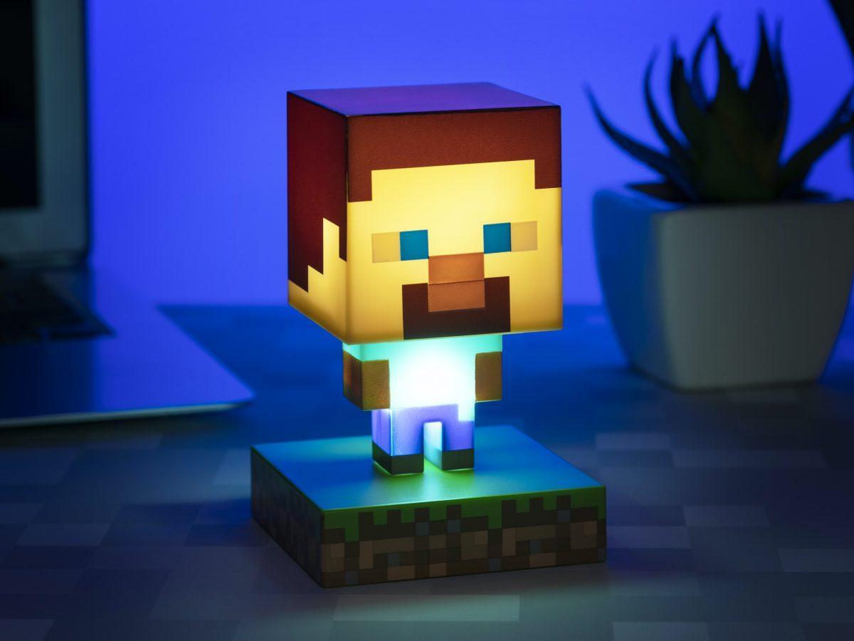 Minecraft Steve Lampa