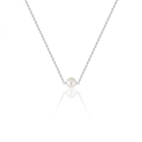 SOPHIE by SOPHIE Pearl Necklace - Silver