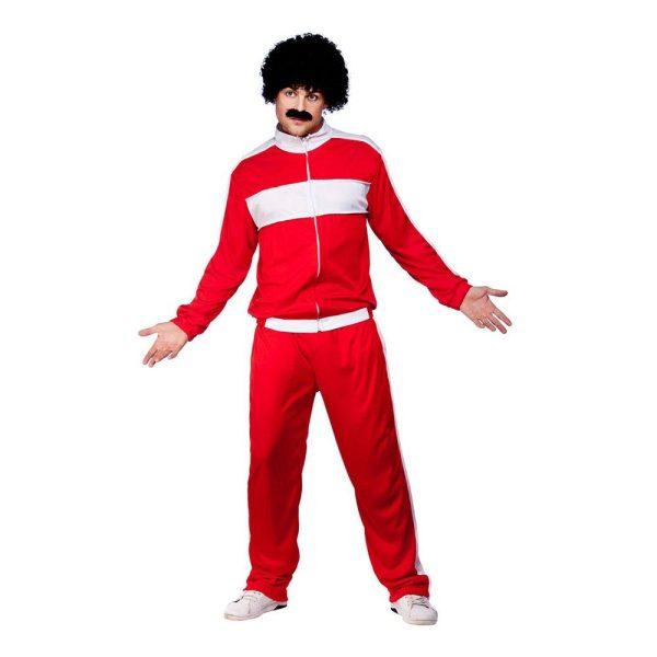 80-tals Träningsoverall Röd Maskeraddräkt - One size