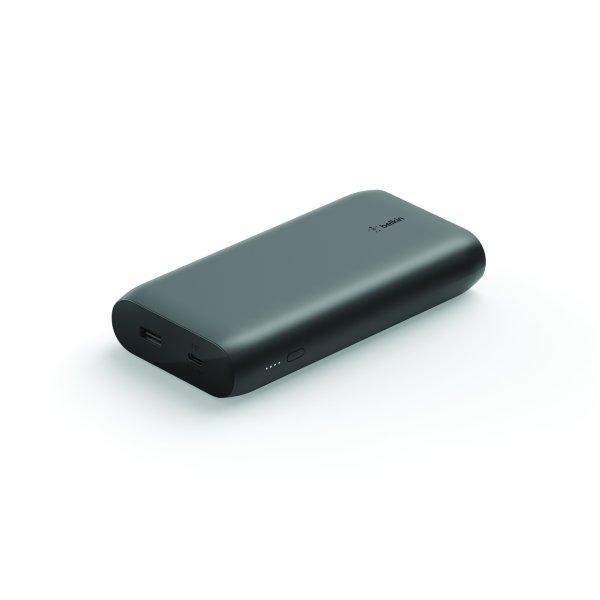 Belkin- Powerbank 20000 mAh, 1 x USB-C 30W PD, 1 x USB-A - Svart