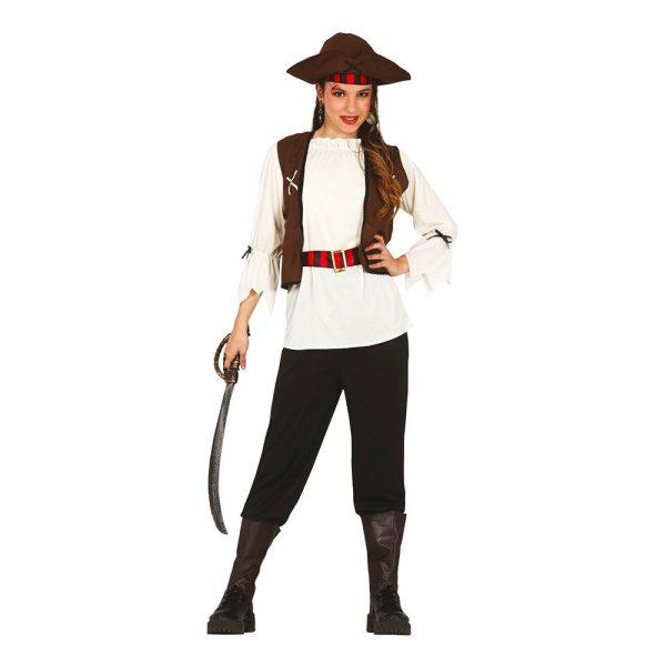 De Sju Haven Pirat Teen Maskeraddräkt - One size