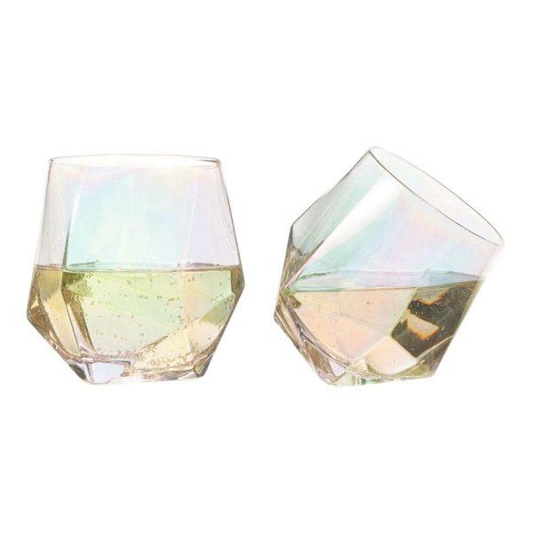 Diamantglas Regnbågsfärgade - 2-pack