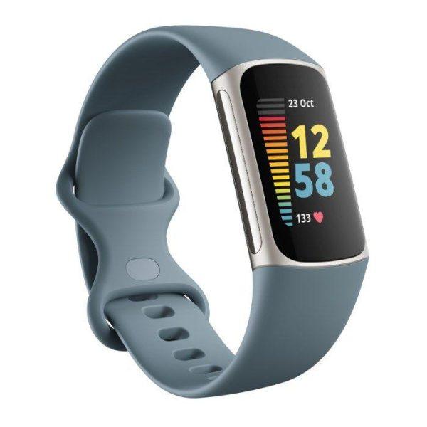 Fitbit Charge 5 Aktivitetsarmband Stålblå/aluminium