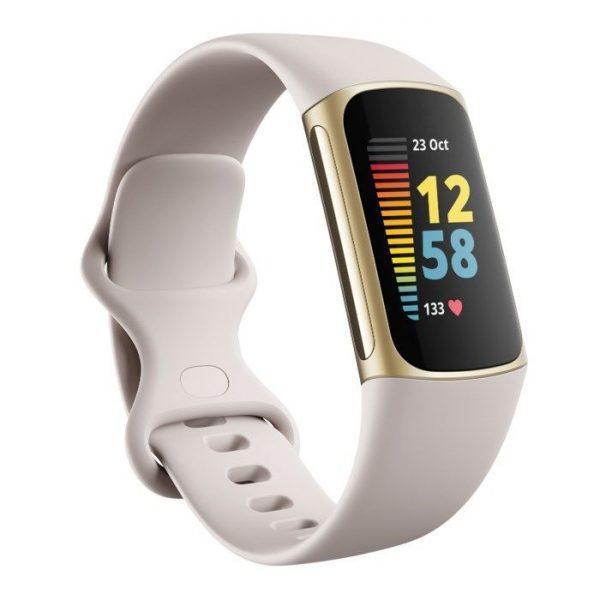 Fitbit Charge 5 Aktivitetsarmband Vit/Guld