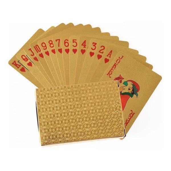 Folierade Spelkort Metallic - Guld