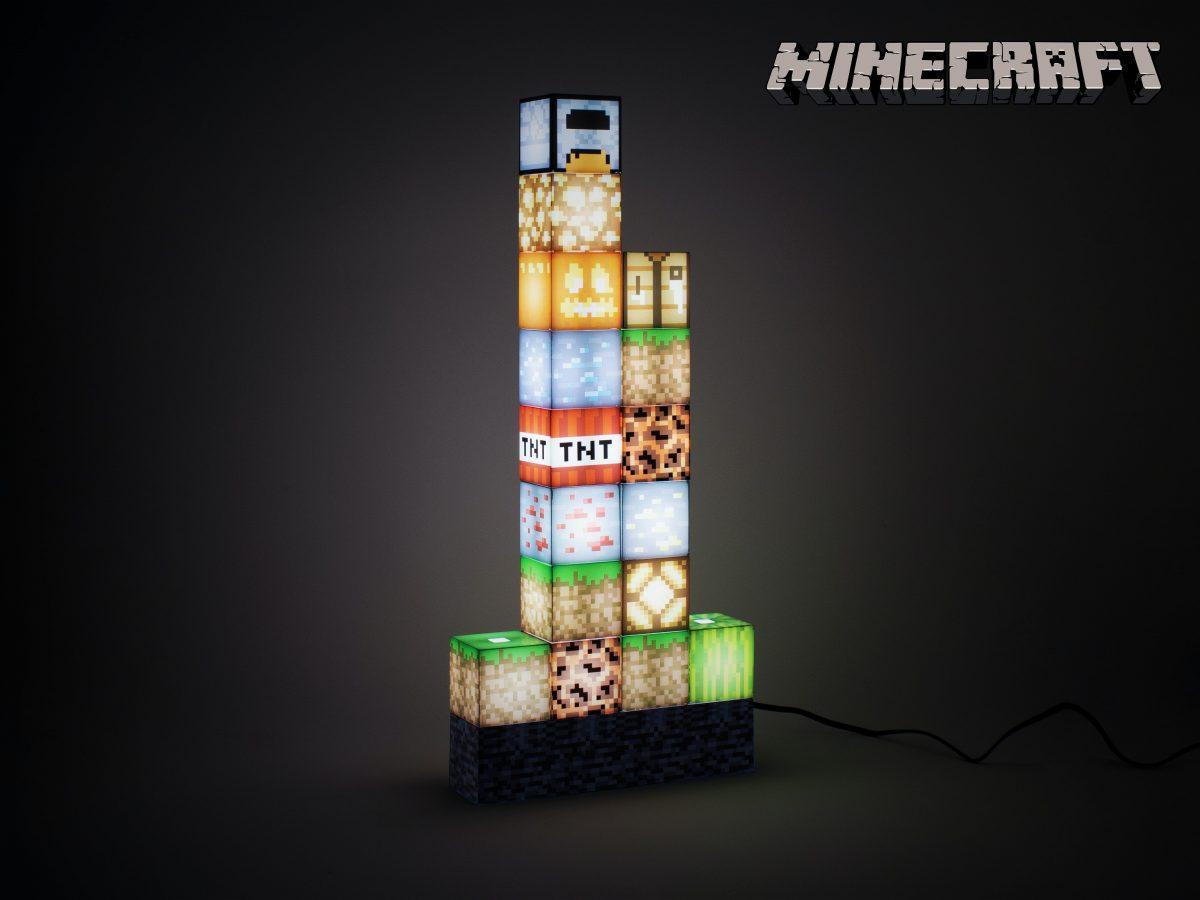 Minecraft Block Building Lampa