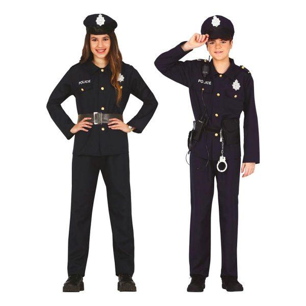 Polis Officer Teen Maskeraddräkt - One size