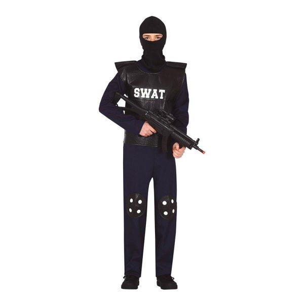 SWAT Polis Teen Maskeraddräkt - One size