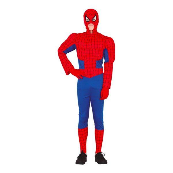 Superspindel med Muskler Teen Maskeraddräkt - One size