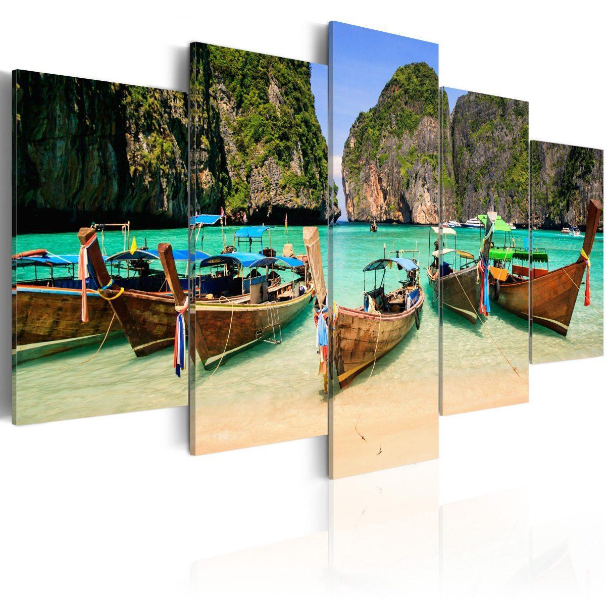 Canvas Tavla - A Patch of Paradise - 200x100