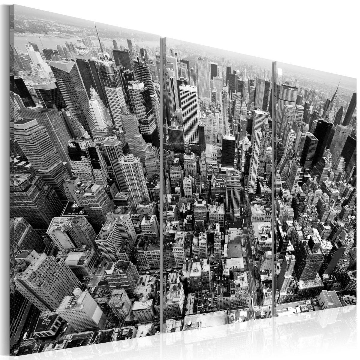 Canvas Tavla - A marvellous view on New York roofs - 120x80
