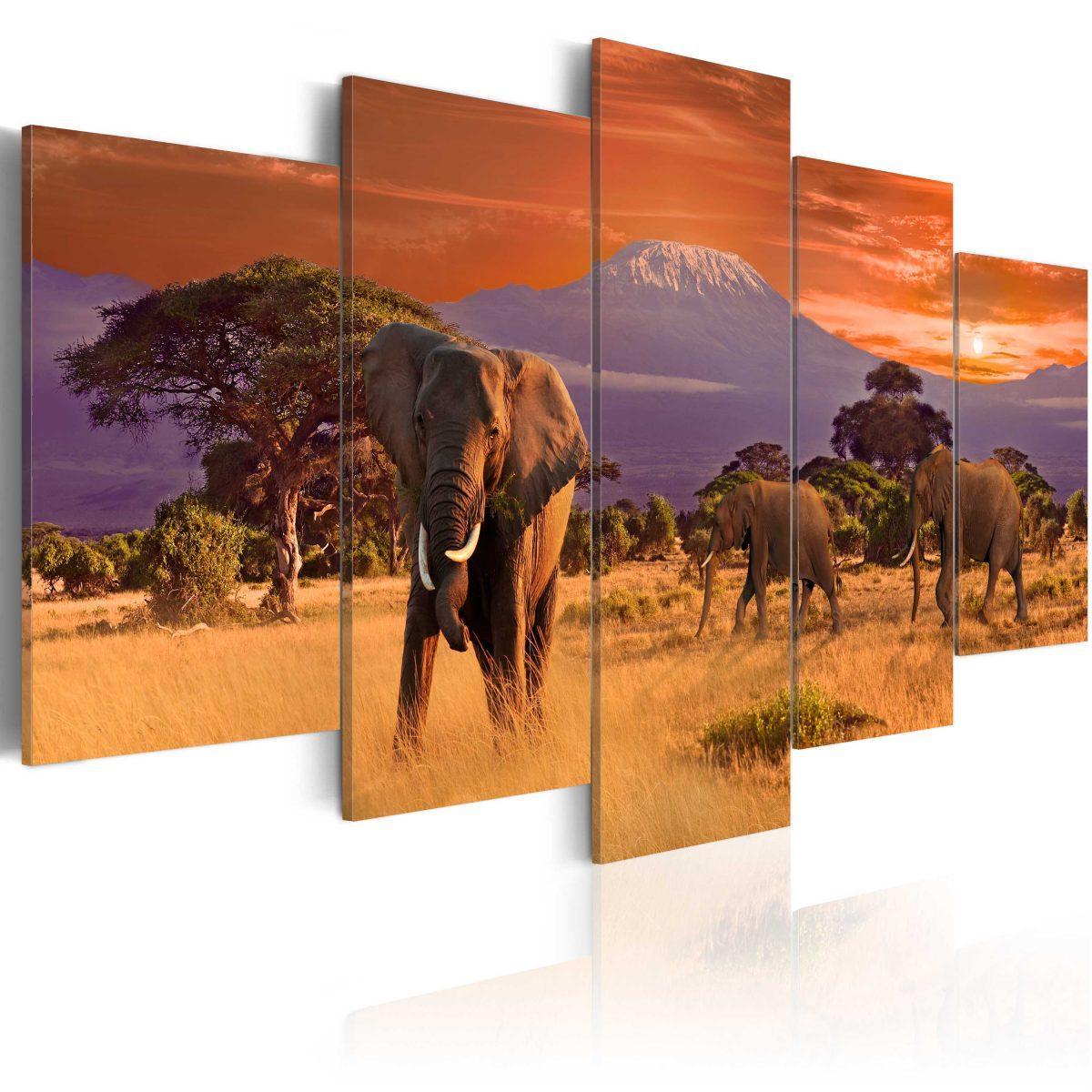 Canvas Tavla - Africa: Elephants - 200x100