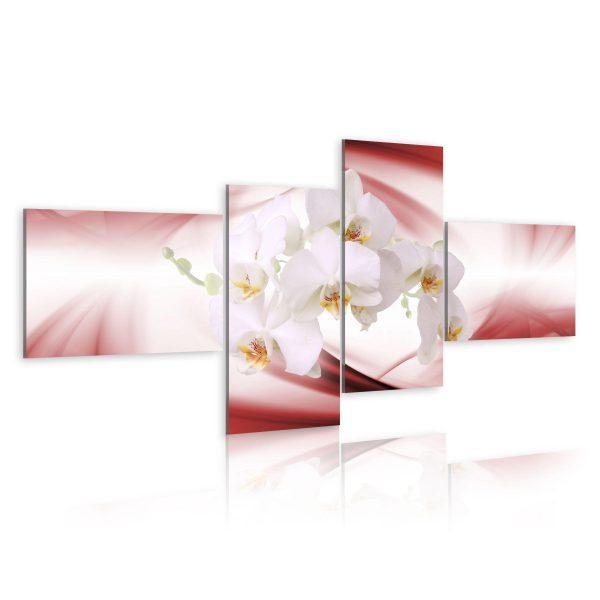 Canvas Tavla - An orchid in pink shade - 100x45