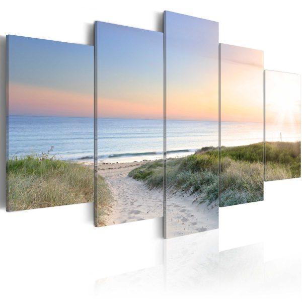 Canvas Tavla - Baltic Sea in the morning - 100x50