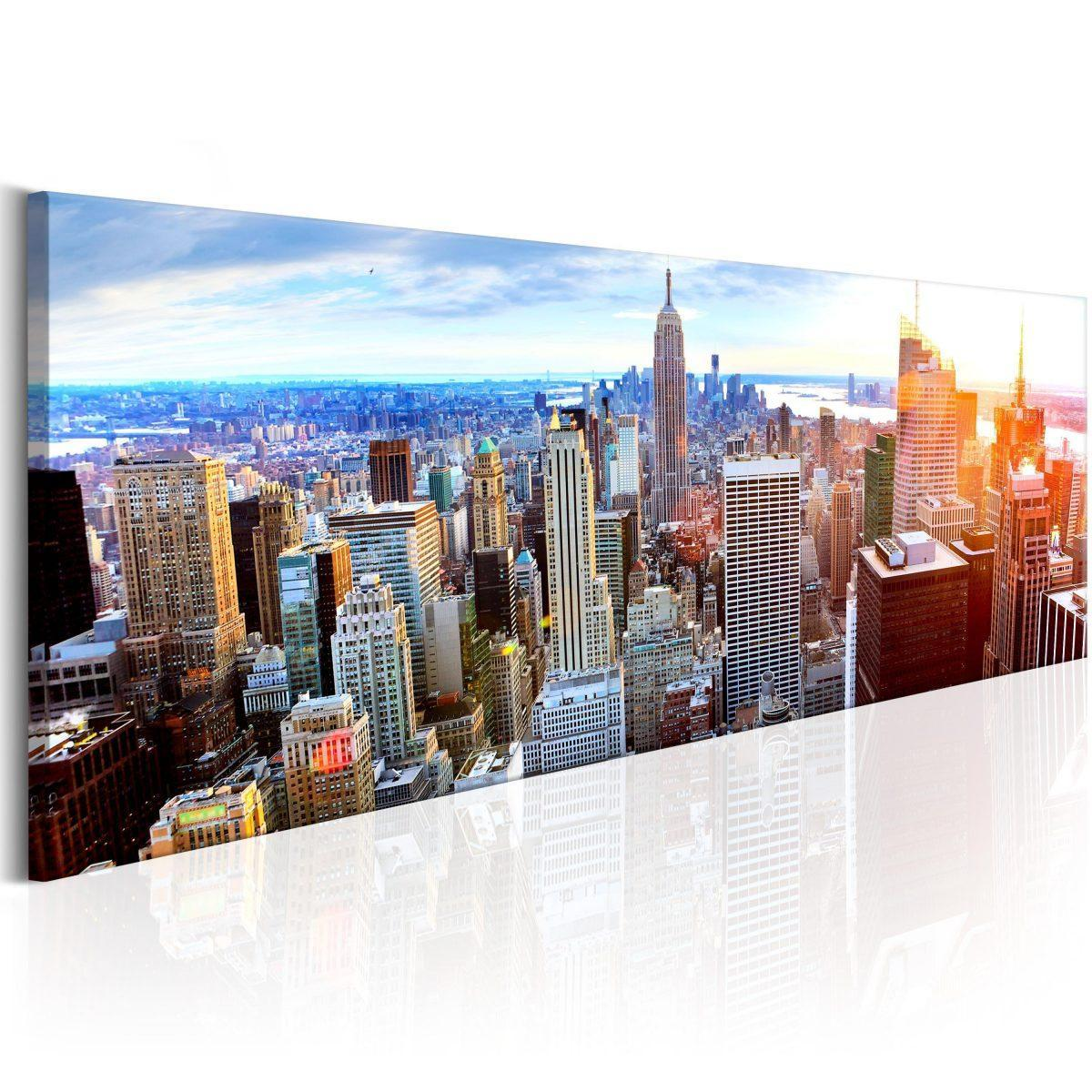 Canvas Tavla - Beautiful Manhattan - 135x45