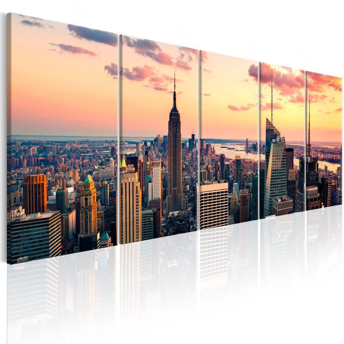 Canvas Tavla - Beautiful Sunset - 225x90