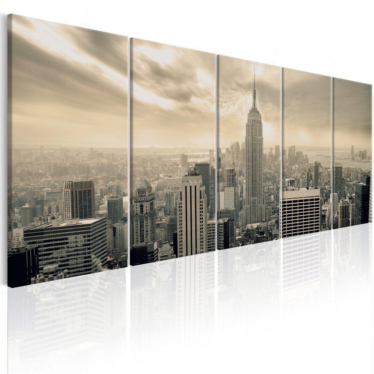 Canvas Tavla - Beige Manhattan - 200x80
