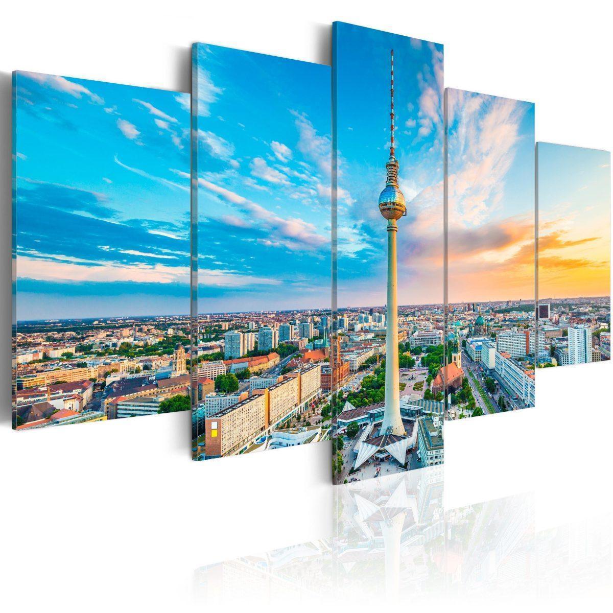 Canvas Tavla - Berlin TV Tower, Germany - 200x100
