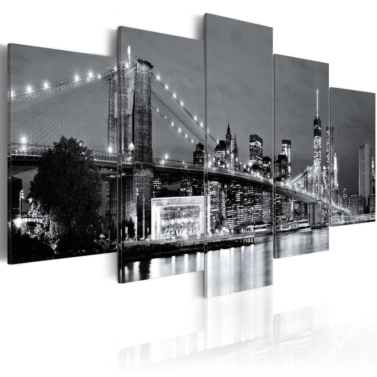 Canvas Tavla - Black-and-white glimpse - 200x100