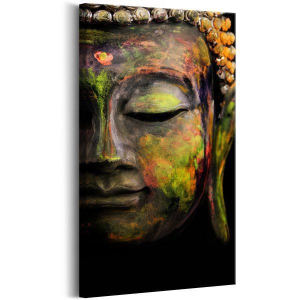 Canvas Tavla - Buddha's Face - 40x80