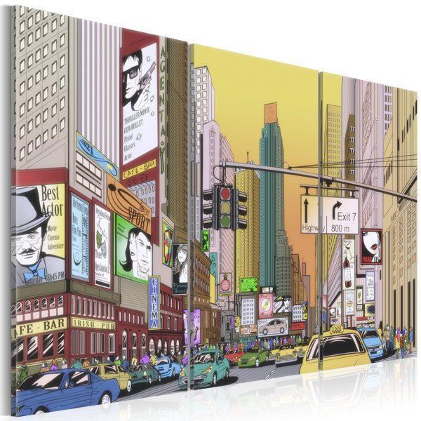 Canvas Tavla - Cartoon city - 90x60
